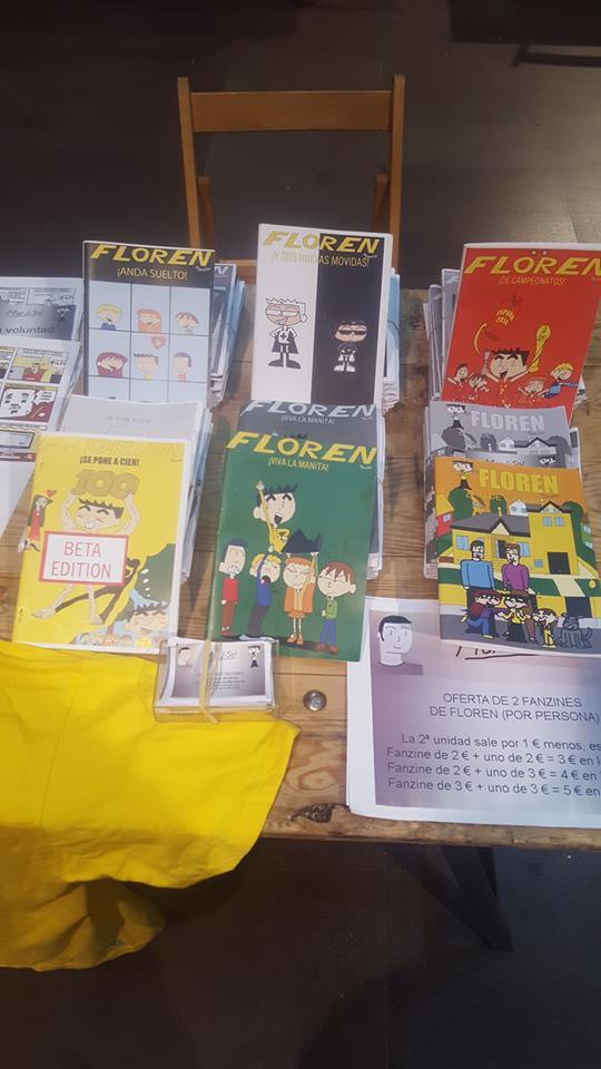 6 de los 7 fanzines de Floren realizados hasta el momento