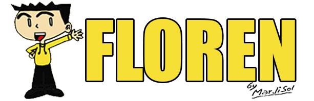 El segundo y actual logotipo utilizado en las historietas de Floren desde 2017, con la temporada 6, en adelante