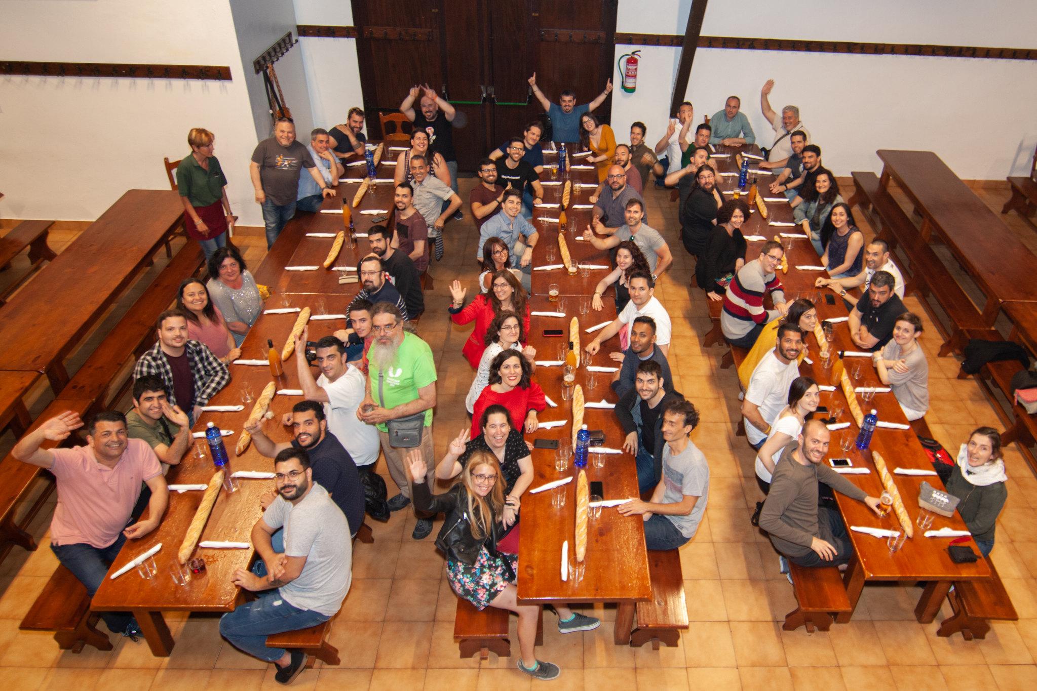 La cena de ponentes de la Wordcamp del pasado día 31 de Mayo
