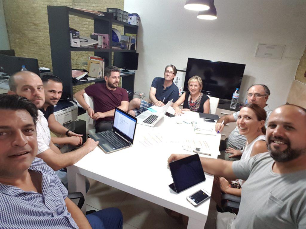 Reunión de Coordinación de entidades participantes en el proyecto; Txincheta, Socarrats, Mercavalència y Estudio Inclusivo.