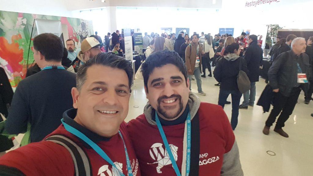 Javier y Marcos en la WordCamp Zaragoza 2020