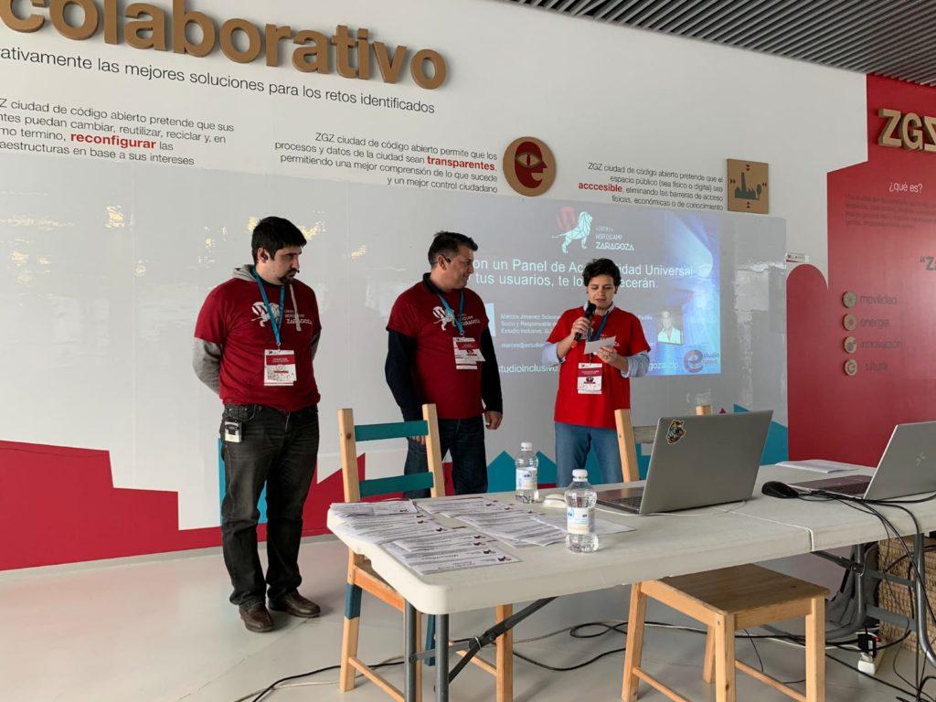 Marcos y Javier, en el momento de la presentación en la WordCamp Zaragoza 2020